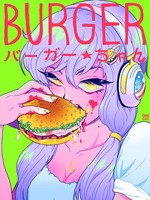 BURGER-CHAN by omocat