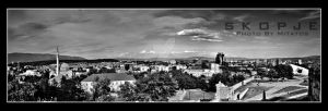 SKOPJE PANORA IN B-W by mitatos