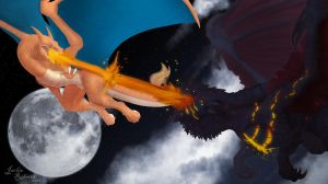 Charizard Vs. Deathwing by Essence-Of-Rapture