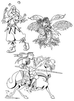 Ren Fest coloring pages by borogove13