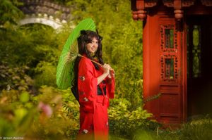 A day in the gardens (Rin Tohsaka) by SkittlesnCookie