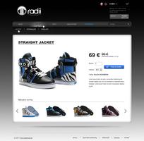 Radii shoes store - detail by uno-webdesigner