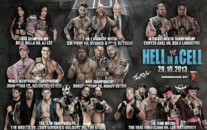 WWE Hell in a Cell 2013 Match Card by TheReller
