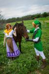 Malon and Link - Ocarina of Time by GunnerYunie