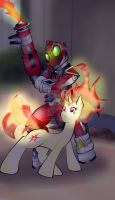 Twilight and Fourze Flame States by FlairNightz