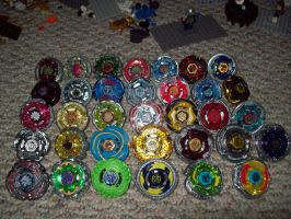All my beyblades by Bobinfinity