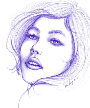 Female Face by Houa-Vang