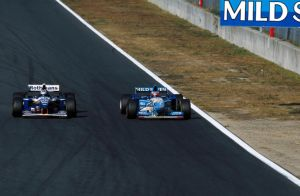 Damon Hill | Michael Schumacher (Pacific 1995) by F1-history