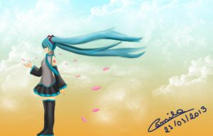 Wind Day - Miku by amibluegirl