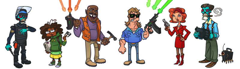 They Live Animated Series Line-Up by WonderDookie
