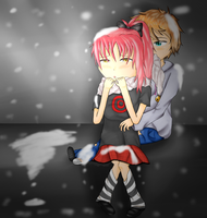 Snowing Night by mantoux3