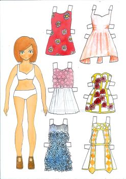 Paperdoll (Print available) by CiliaCC