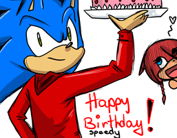 HAPPY BIRTHDAY SPEEDY ! by Klaudy-na