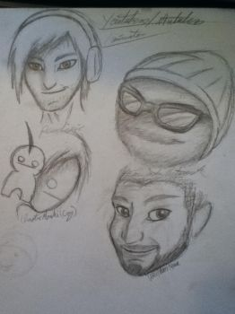 Some Youtubers I Love WIP by Cafhin