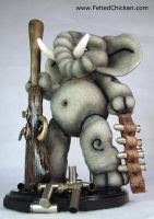 Elephant with Sculpted Gun - Available by AlwaysSuagarCoated