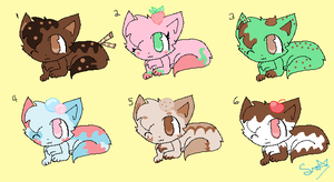 ice cream kitten adoptables (CLOSED)) by chibiXbear