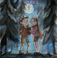 Dipper and Mabel - Gravity Falls by DreamyArtistRoxy3