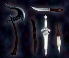 Fantasy Weapons by Indiliel