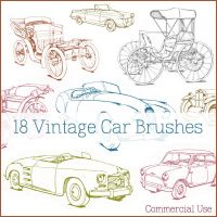 Vintage + Classic Car Brushes by figandlily