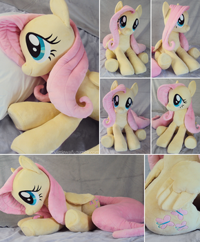 Giant Fluttershy Plushie - more images by ButtercupBabyPPG
