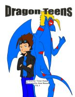 Dragon Teens Vol 1 front cover in color by DragonTeens
