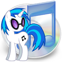 iTunes icon - vinyl scratch by spikeslashrarity