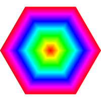 hexagon rainbow target by 10binary