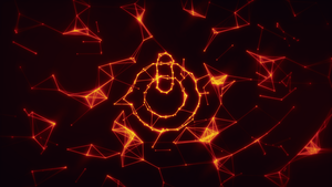 On/Off Logo 1920x1080 Red Wireframe Wallpaper by Pstrnil