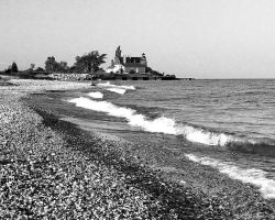 Point Betsie Lighthouse B and by PixelPerfectPhotog