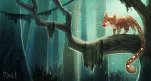 DAY 96. Quoll (30 Minutes) by Cryptid-Creations