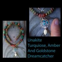 Dreamcatcher necklace by WyckedDreamsDesigns