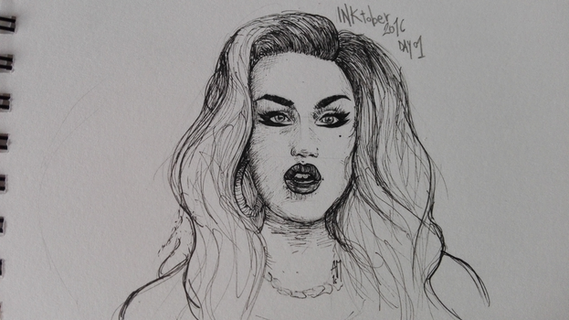 INKtober 2016 - day 01 - Adore Delano by CaptainPedroH