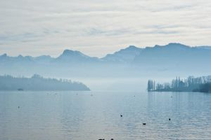 Misty Mountains by Stichflamme-Stock