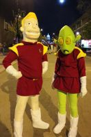 2012 Zapp Brannigan and Kif Kroker by Halloweeners