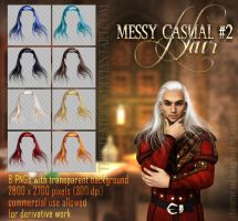 Messy Casual #2 HAIR STOCK by Trisste-stocks