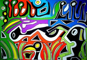 Keith Haring tribute by luciasolda
