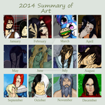 2014 Art Summary by Frozenaccess