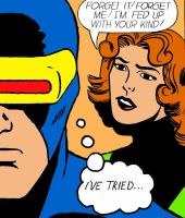 Cyclops and Jean Grey in 'Forget it! Forget Me' by Nick-Perks