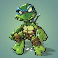 Little Leo :: Ninja Turtle by Red-J