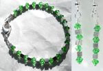 Jewelry: green and silver by LissaMonster