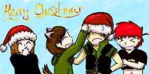 Merry Christmas from us! by ChibiMikhail