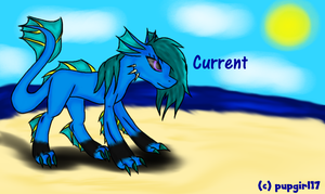 Current The Water Dragon (Skylanders OC) by pupgirl17