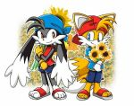 Klonoa and Tails in Springtime by DragonLord99