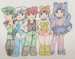 Sailormoon R chibis by purenightshade