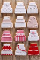 Wedding cake cookies by kupenska