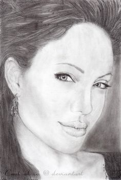 Angelina Jolie drawing by Cast-al-ia