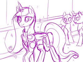 Draft 1 - Commander Cadance (Concept) by Lionel23