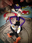 Waluigi Felt Doll by MichelleBergeron