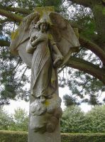 Angel in a graveyard 3 by F-L-O-W-E-R-S