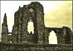 The Ruins Of Whitby abbey by Estruda